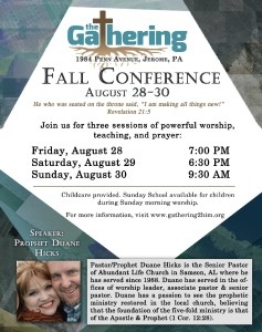 Fall Conference- Session 3 @ The Gathering | Hollsopple | Pennsylvania | United States